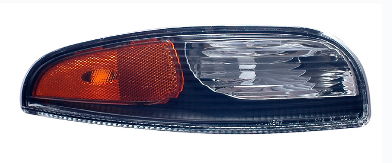 C5 Corvette 1997-2004 Front DRL Parking Light Lens - Pair - Clear/Black/Amber