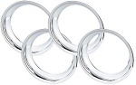 C3 Corvette 1968-1982 Chrome ABS Plastic Wheel Trim Rings - 4 Sizes Available