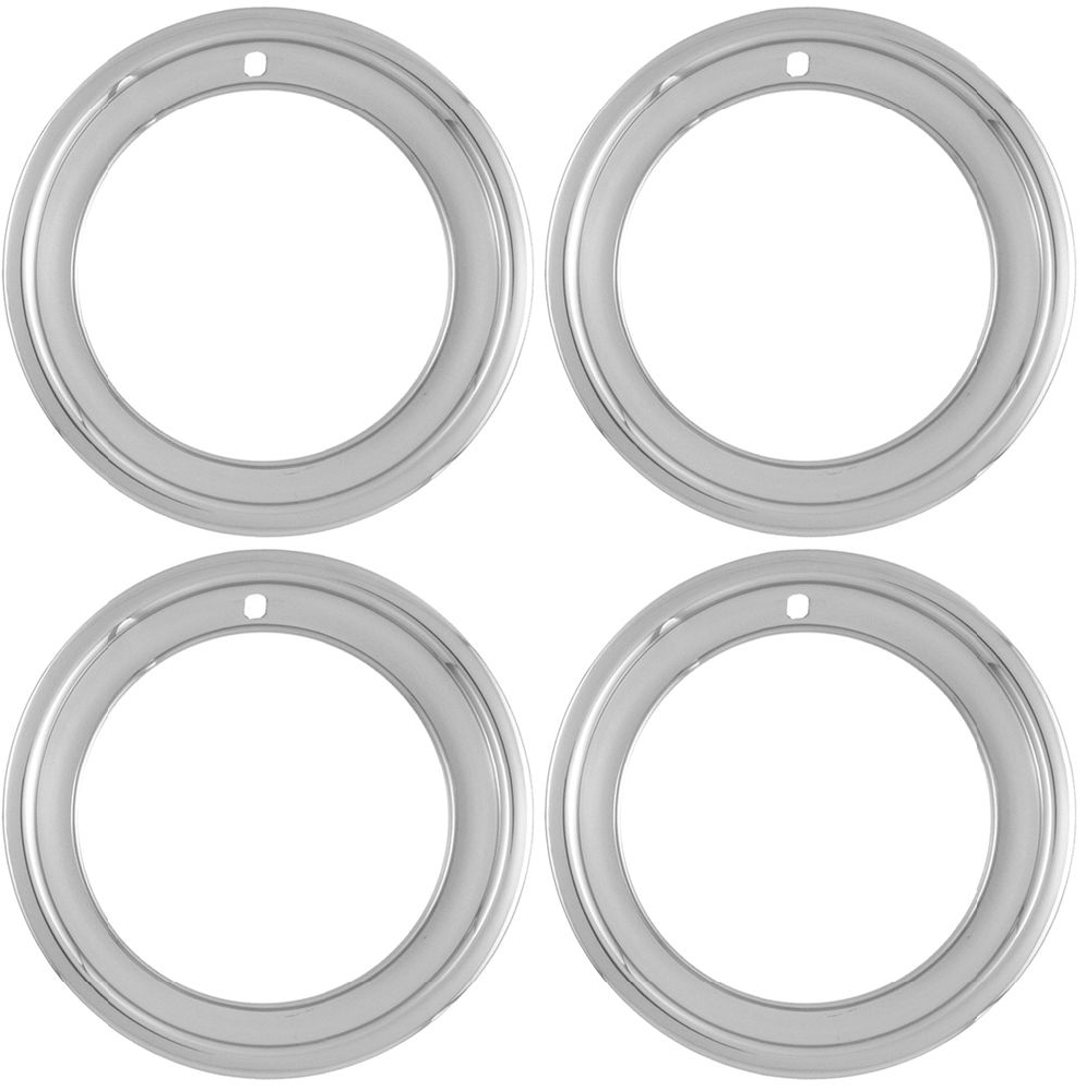 C3 Corvette 1968-1982 15in Chrome Plated Stainless Steel Wheel Trim Rings - Deep Dish