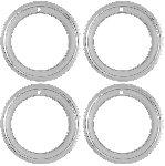 C3 Corvette 1968-1982  14x7 Chrome Plated Stainless Steel Wheel Trim Rings - Deep Dish