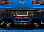 C7 Corvette Stingray/Z06/Grand Sport 2014-2019 Custom Painted Illuminated Exhaust Filler Panel - Perforated