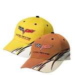 C6 Corvette 2005-2013 Racing Flash Cap - Yellow/Orange