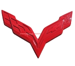 C7 Corvette Stingray/Z06/Grand Sport 2014-2019 Custom Painted Crossed Flags Emblem - Front/Rear