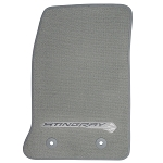 C7 Corvette Stingray 2014-2019 GM Front Floor Mats With Logos - Gray