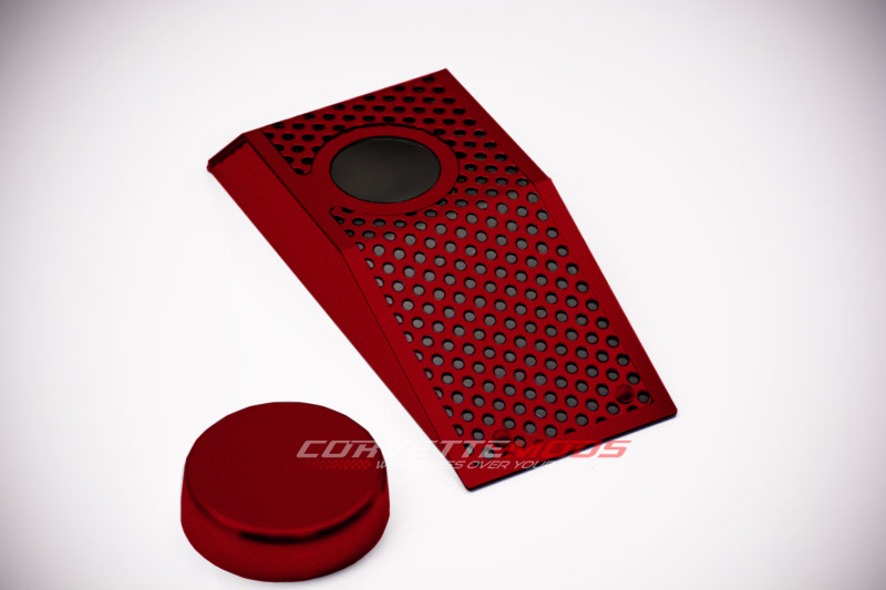 C6 Corvette Z06/Grand Sport 2008-2013 Custom Painted Power Steering Reservoir Cover w/Cap - Perforated