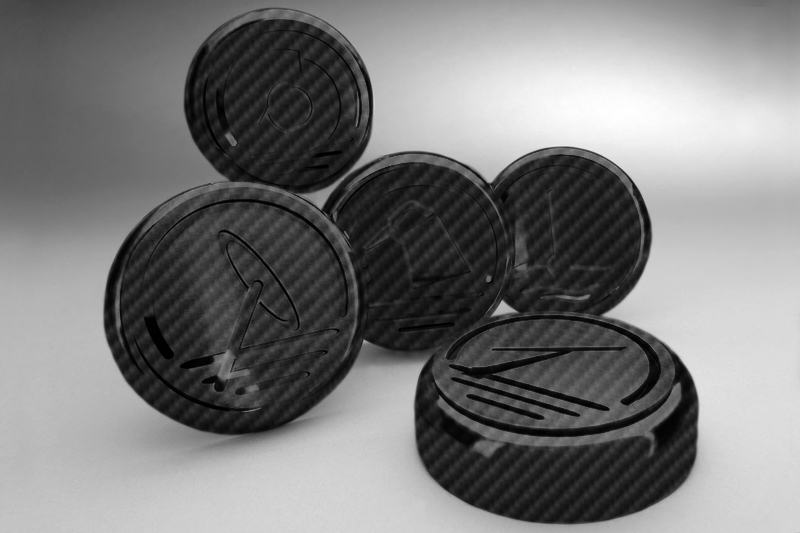 C6 Corvette 2005-2013 Hydro Carbon Fiber Cap Cover 5pc Set