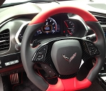 C7 Corvette Stingray/Z06/Grand Sport 2014-2019 Hydro Carbon Fiber Steering Wheel Trim Bezel