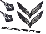 C7 Corvette Stingray 2014-2019 Custom Painted Emblem Package