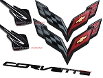 C7 Corvette Stingray 2014-2019 Carbon Flash Metallic Emblem Package