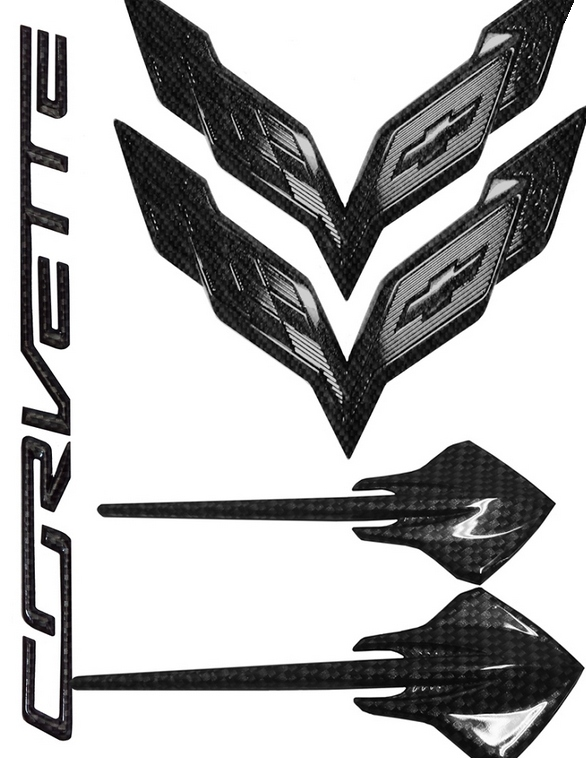 C7 Corvette Stingray 2014-2019 Hydro Carbon Fiber Emblem Package