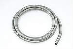 10AN SS Double Braided CPE Fuel Hose - Silver Finish - Length Options