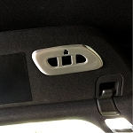 C7 Corvette Stingray 2014-2019 Garage Door Opener/Homelink Cover - Brushed Aluminum