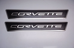 C6 Corvette 2005-2013 Carbon Fiber Outer Door Sills Polished Inlay - Corvette Lettering