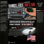 C5 Corvette 1997-2004 MP3 Hidden Hands Free Auxiliary Adapter