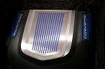 C6 Corvette ZR1 2009-2013 Engine Shroud Cover Ribbed 2Pc - Emblem Option