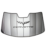 C6 Corvette 2005-2013 Folding Logo Sunshade - Insulated