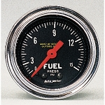 Autometer 2-1/6 inch Fuel Pressure Gauge 0-15 PSI - Chrome