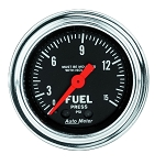 Autometer 2-1/6 inch Fuel Pressure Gauge w/ Isolator 0-15 PSI - Chrome