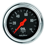 Autometer 2-1/6 inch Oil Pressure Gauge 0-100 PSI - Chrome