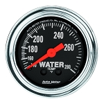 Autometer 2-1/6 inch Water Temperature Gauge 140-280F - Chrome