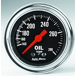 Autometer 2-1/6 inch Oil Temperature Gauge 140-280F - Chrome