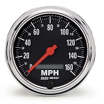 Autometer 3-3/8 inch Speedometer 0-160 MPH - Chrome