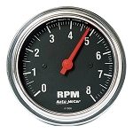 Autometer 3-3/8 inch In Dash Tachometer 0-8000 RPM - Chrome