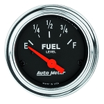 Autometer 2-1/16 inch Fuel Level Gauge 0-30 ohm AMP SSE - Chrome