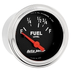 Autometer 2-1/16 inch Fuel Level Gauge 73-10 ohm Linear - Chrome