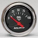 Autometer 2-1/16 inch Oil Pressure Gauge 0-100 PSI - Chrome