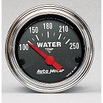 Autometer 2-1/16 inch Water Temperature Gauge 100-250F - Chrome