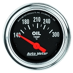 Autometer 2-1/16 inch Oil Temperature Gauge 140-300F - Chrome