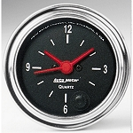 Autometer 2-1/16 inch 12 Hour Clock Gauge - Chrome