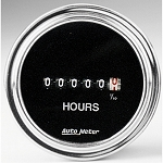 Autometer 2-1/16 inch Hourmeter - Chrome