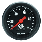 Autometer 2-1/16 inch Oil Pressure Gauge 0-100 PSI