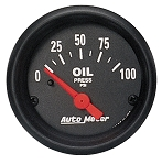 Autometer 2-1/16 inch Oil Pressure Gauge 0-100 PSI Z-Series