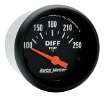 Autometer 2-1/16 inch Differential Temperature Gauge 100-250F