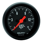Autometer 2-1/16 inch Fuel Pressure Gauge 0-15 PSI Z- Series