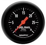 Autometer 2-1/16 inch Fuel Rail Pressure Gauge 0-30K PSI Z-Series