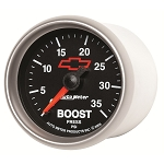 Autometer 2-1/16 inch Boost Gauge 0-35 PSI - GM Black