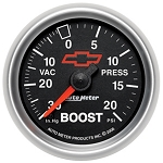 Autometer 2-1/16 inch Boost/Vacuum Gauge 30 IN HG/20 PSI - GM Black
