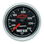 Autometer 2-1/16 inch Water Temperature Gauge 120-240F - GM Black w/ Bowtie Logo