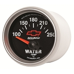 Autometer 2-1/16 inch Water Temperature Gauge 100-250F - GM Black w/ Bowtie Logo