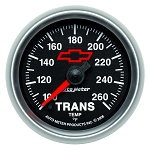 Autometer 2-1/16 inch Transmission Temperature Gauge 100-260F - GM Black w/ Bowtie Logo