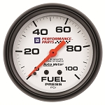 Autometer 2-5/8 inch Fuel Pressure Gauge w/ Isolator 0-15 PSI - GM White w/ Bowtie Logo