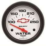 Autometer 2-5/8 inch Water Temperature Gauge 100-250F - GM White w/ Bowtie Logo