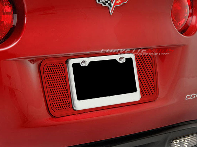 C6 Corvette 2005-2013 Custom Painted Perforated License Plate Frame