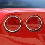 C6 Corvette 2005-2013 Tail Light Bezels Chrome - Set of Four