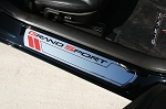 C6 Corvette 2010-2013 Billet Chrome Door Sill Guards - Grand Sport Logo