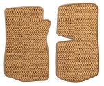C3 Corvette 1968-1982 Coir / Cocos Husk Front Floor Mats - Made From Real Husk